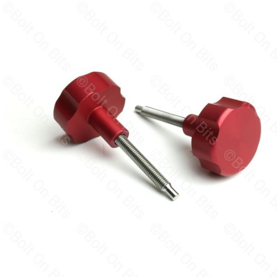 Pair of RDX Red Anodised Alloy Fusebox Knobs