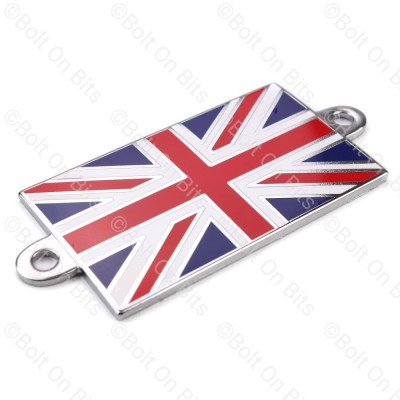 Union Jack Badge Metal Enamel Rivet/Screw On