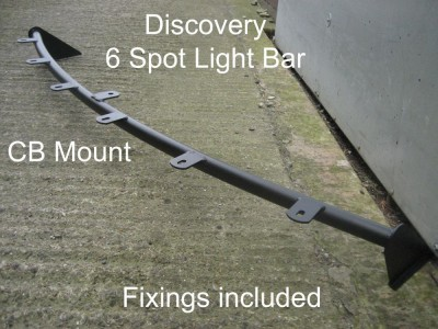 Discovery 1 & 2 Roof Light bar 6 Spot Brackets  & CB Mount