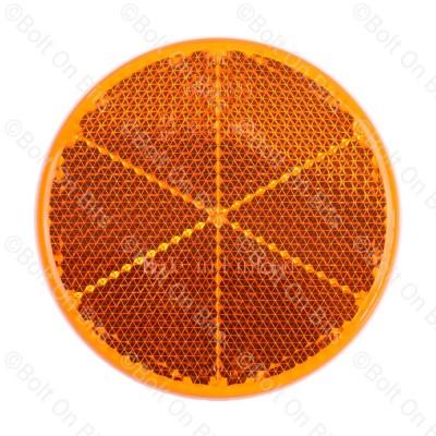 HELLA 60mm Round Amber Reflector