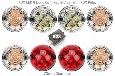 RDX LED Light Kit Clear Kit with Red Stop Tail With RDX Relay