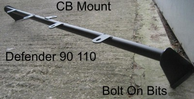 Defender 4 Spot Roof Bar & CB Mount
