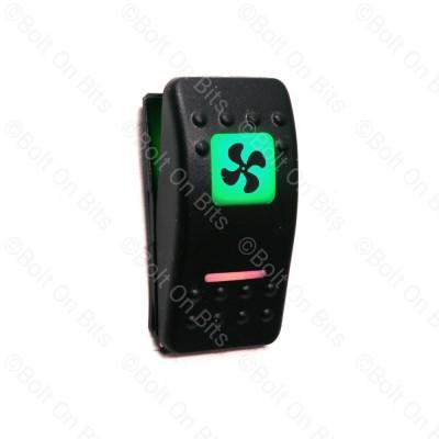 RDX K Switch Green 2 Speed Fan  Off On On
