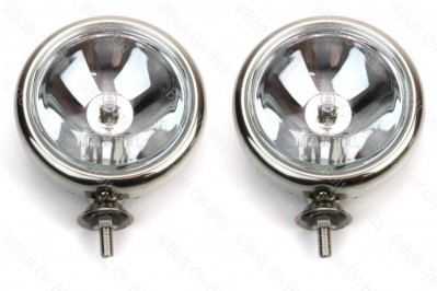 Pair of Stainless Steel Mini Spotlights