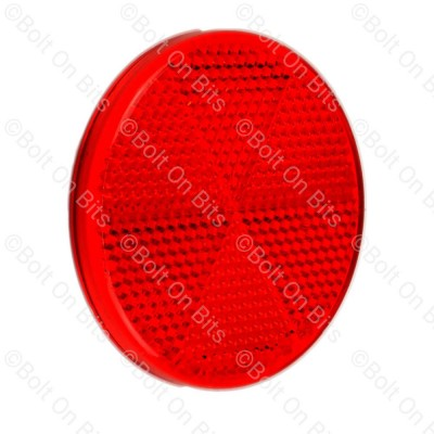 Hella Red 60mm Self Adhesive Reflector
