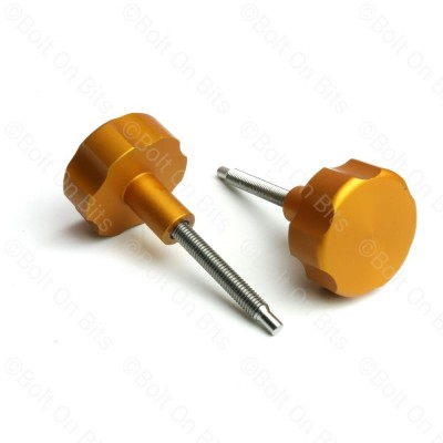 Pair of RDX Orange Anodised Alloy Fusebox Knobs